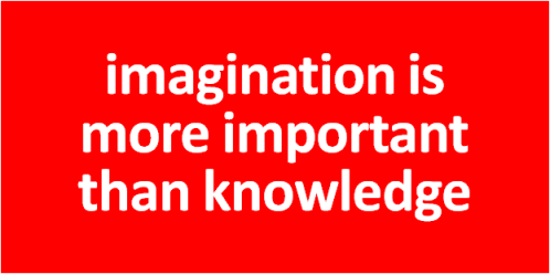 imagination vs knowledge